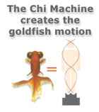 The Chi Machine creates the goldfish motion